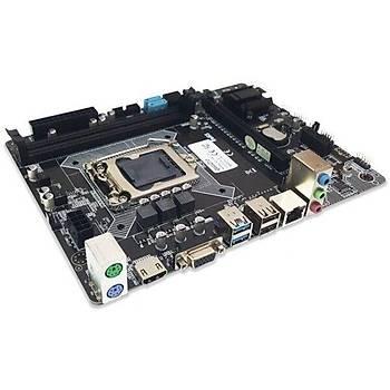 Quadro H81-AC DDR3 LGA 1150 DDR3 Micro ATX Anakart