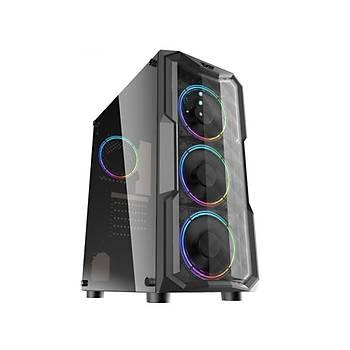 DarkFlash Aquarius RGB Mid Tower Kasa PSU YOK