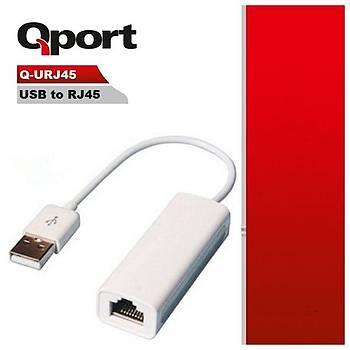 Q-PORT USB => RJ45 ÇEVÝRÝCÝ(Q-URJ45)