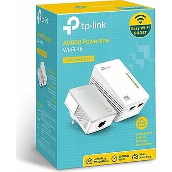 TP-LINK TL-WPA4220KIT AV600 300 Mbps Kablosuz Tak Kullan 2 LAN Portlu 300 Metre Mesafeli Menzil Geniþletici Powerline Adaptör