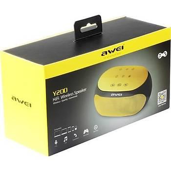 Awei Y200 Taþýnabilir Kablosuz Bluetooth Hoparlör V3.0