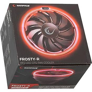 Rampage FROSTY-R 3Pin 120mm AM4 Ready 1600Rmp Kýrmýzý Led Soðutucu Fan