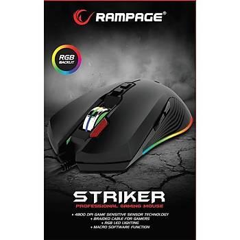 RAMPAGE SMX-R75 STRIKER RGB 4800dpi GAMING MOUSE