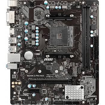 MSI B450M-A PRO MAX DDR4 3466Mhz S+VGA+GLAN AM4 DVI-D HDMI mATX