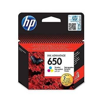 HP 650 Üç Renkli Mürekkep Kartuþu