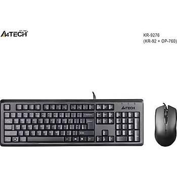 A4 Tech KR-9276 Kablolu Standart Klavye Mouse Set