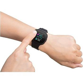 Asus VivoWatch BP (HC-A04) Akýllý Saat Siyah  GPS / Bluetooth / Tansiyon Ölçümü / Health AI