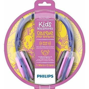 Philips SHL2000PK Kulak Üstü Çocuk Kulaklýðý Pembe & Mor