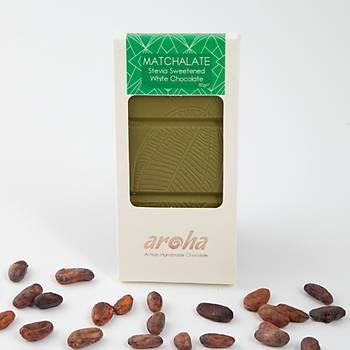Aroha Stevialý Matchalate (Matcha Tozlu Beyaz Çikolata)