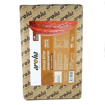 %80 Kakao - Stevia Ýle Tatlandýrýlmýþ Çikolata Kuvertürü (6 X 2Kg.)