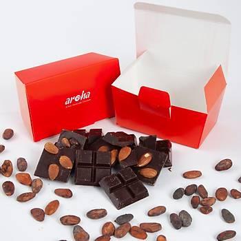 6 Adet Bademli Mini Tablet Çikolata - %70 Bitter