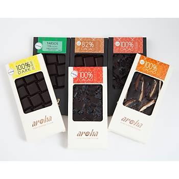 Aroha Çikolata Þeker Ýlavesiz Seri - % 100 Kakao 6 lý Paket