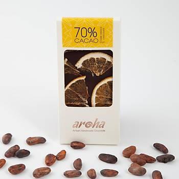 Aroha Portakallý Bitter Çikolata - %72 Kakao