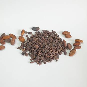 Organik Þeker Kamýþý Þekeri Kaplý Organik Kakao Parçacýklarý (Cacao Nibs, %100 Kakao) - 200Gr-400-800 Gr.  Seçenekleri ile.