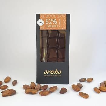 Aroha Single Origin Ghana- Þeker Ýlavesiz Ballý Çikolata. %82 Kakao