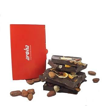 Aroha %72 Bitter Çikolata Kuru Yemiþli & Kuru Meyveli - 250 gr.