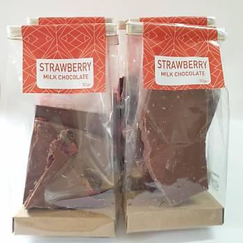 Kurutulmuþ Çilekli Sütlü Çikolata- 600 gr