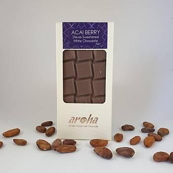 Aroha Stevialı -  Acai Berry Beyaz Çikolata