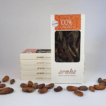Aroha Hurmalý Simsiyah Çikolata - %100 Kakao, 6 lý Paket