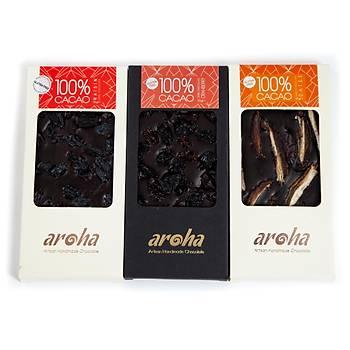 Aroha Çikolata Þekersiz Seri - % 100 Kakao