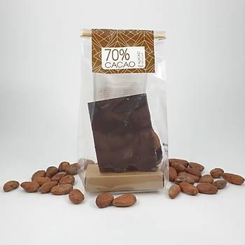 Aroha Bademli Bitter Çikolata - %72 Kakao. 100-300 ve 600 Gr. seçenekleri ile.