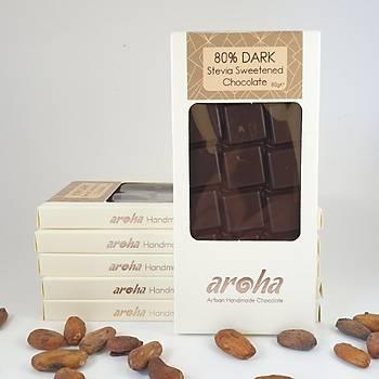 Aroha Þeker Ýlavesiz Stevia ile tatlandýrýlmýþ bitter çikolata - 6 adet