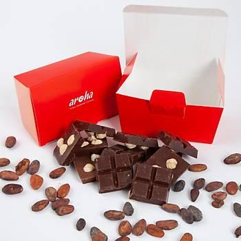 6 Adet Fýndýklý Mini Tablet Çikolata - Bitter