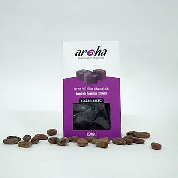 %85 Bitter Çikolata kaplý çikolatalý hurma lokum brownie - Rafine þekersiz
