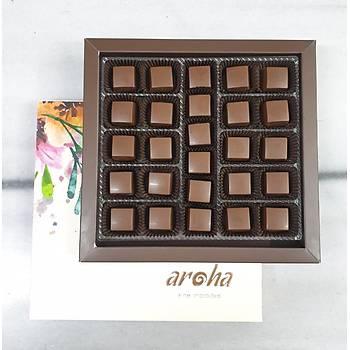 500 Gr. lýk kutuda 26 adet Vegan Sütlü Spesiyal Çikolata - %50 Kakao