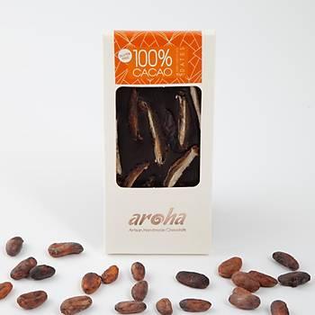 Aroha Þeker Ýlavesiz Hurmalý Simsiyah Çikolata - %100 Kakao