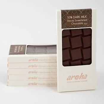 Stevia ile tatlandýrýlmýþ Sütlü Çikolata - 6 adet