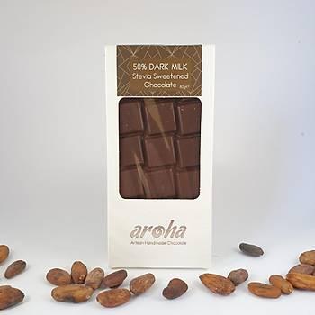 Aroha Þeker Ýlavesiz Stevialý Sütlü Çikolata - %50 Kakao