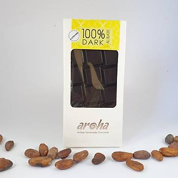 Aroha Þeker Ýlavesiz Simsiyah Çikolata - %100 Kakao
