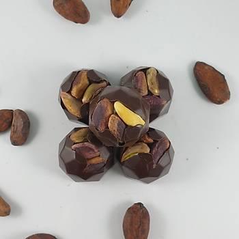 Bütün Antepfýstýklý Bitter, Spesiyal Çikolata - 100-300-600 Gr. Seçenekleri ile.