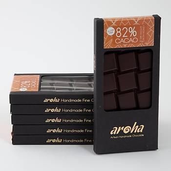 Aroha Single Origin Ghana-Ballý Çikolata. %82 Kakao - 6 lý Paket