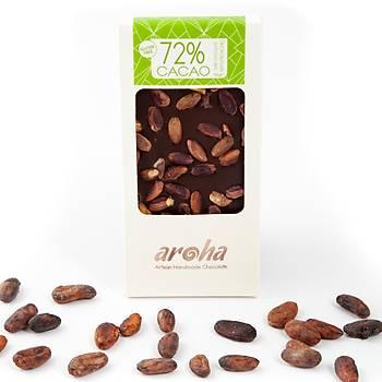 Aroha Antepfıstıklı Bitter Çikolata - %72 Kakao