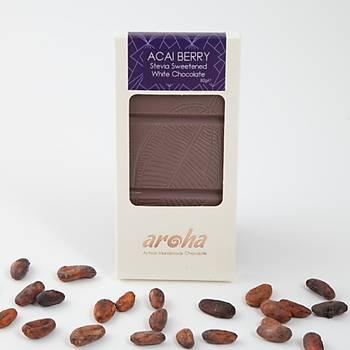 Aroha Stevialý -  Acai Berry Beyaz Çikolata