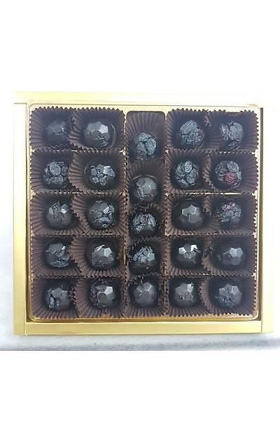 500 Gr Kutuda 26 adet Turna Yemiþi ve Özbek Üzümlü Spesiyal Çikolata - %100 Kakao