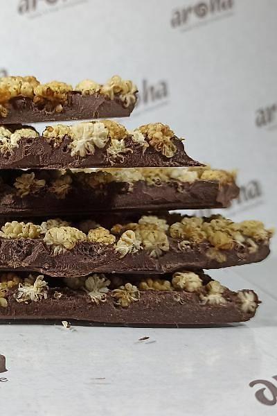 Kurudutlu %85 Bitter Hurma Özlü Çikolata - Rafine Þekersiz - 250 Gr.