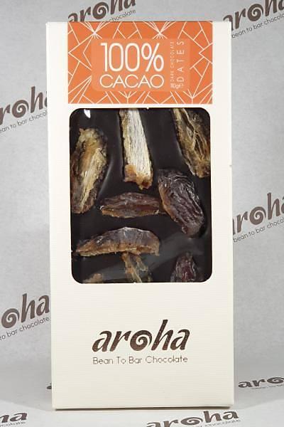 Aroha Þeker Ýlavesiz Hurmalý Simsiyah Çikolata - %100 Kakao, 6 lý Paket