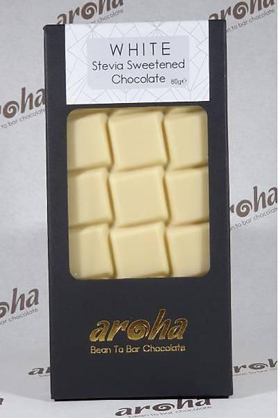 Aroha Þeker Ýlavesiz Stevialý Beyaz Çikolata (%50 Kakao)