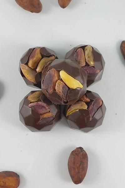 Bütün Antepfýstýklý %72 Bitter, Spesiyal Çikolata - 500 Gr.