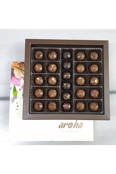 500 Gr. lýk kutuda 26 adet %50 Kakao Sütlü ve %85 Kakao Hurma Özlü Spesiyal Çikolata