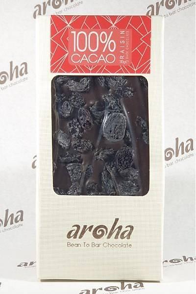 Þeker Ýlavesiz Üzümlü Simsiyah Çikolata - %100 Kakao - 6 Adet