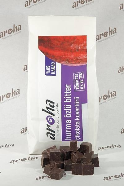 %85 Kakao - Hurma Ýle Tatlandýrýlmýþ Bitter Çikolata Kuvertürü  500 GR / 2 KG seçenekleri ile