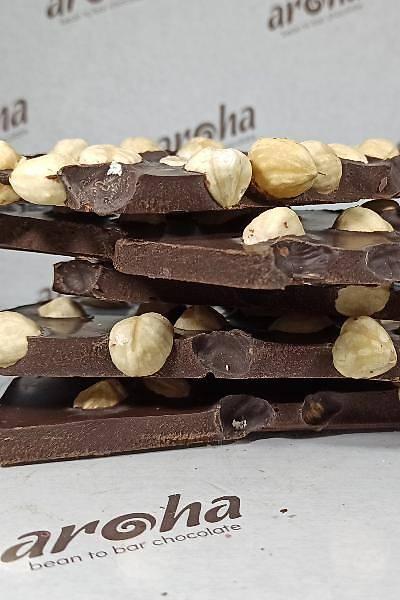 Fýndýklý %85 Bitter Hurma Özlü Çikolata - Rafine Þekersiz - 250 Gr.
