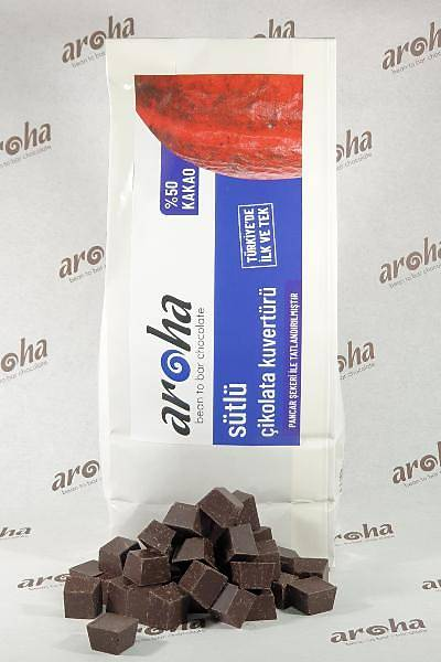 %50 Kakao - Sütlü Çikolata Kuvertürü 500 GR / 2 KG seçenekleri ile