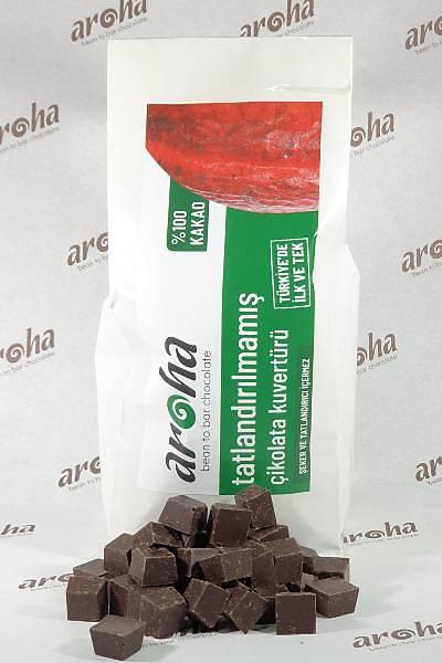 %100 Kakao - Tatlandýrýlmamýþ Þekersiz Bitter Çikolata Kuvertürü  500 GR / 2 KG seçenekleri ile