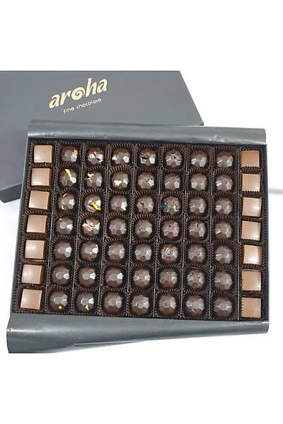 1000 Gr Kutuda 63 Adet Hurma Özlü ve Vegan Sütlü Spesiyal Çikolata