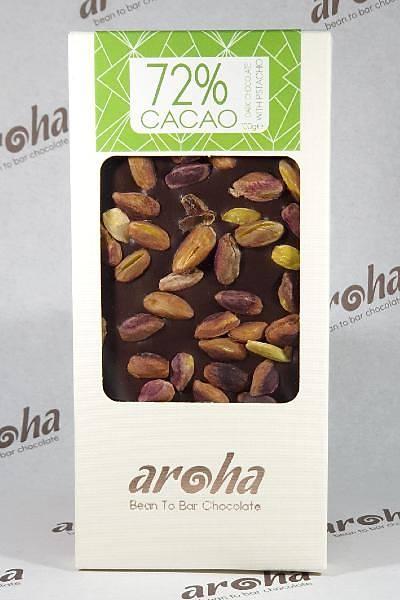 Antepfýstýklý Bitter Çikolata - %72 Kakao
